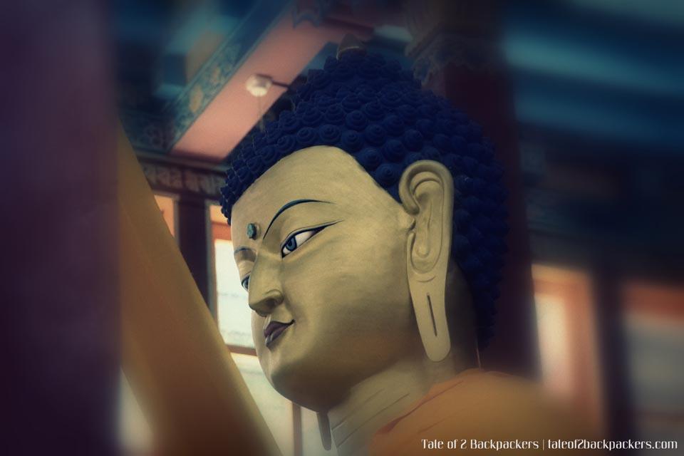 The Buddha statue at Hemis Monastery