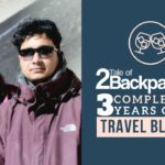 Tale of 2 Backpackers completes 3 years of Travel Blogging.