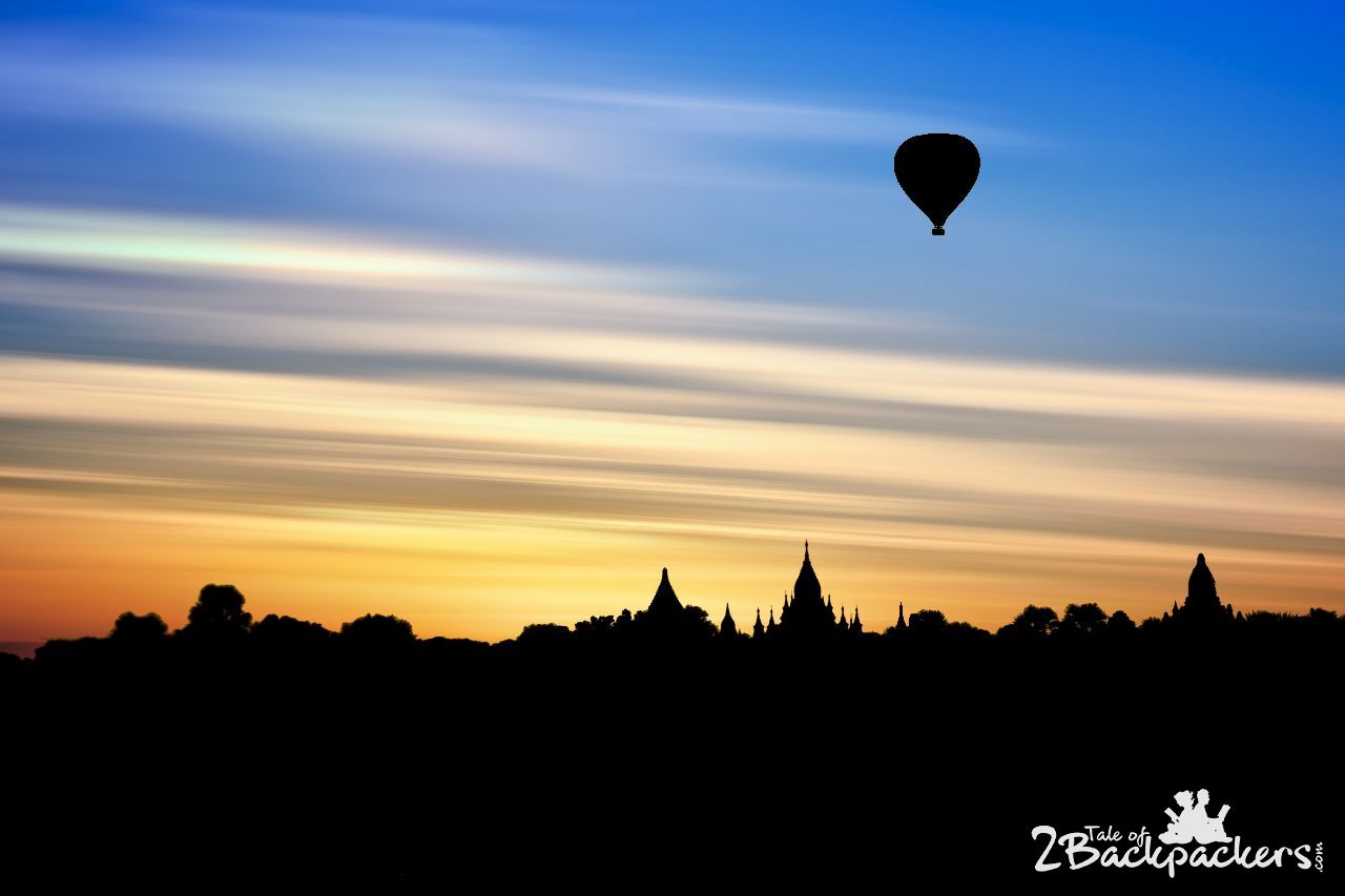 Hot air balloon at Bagan