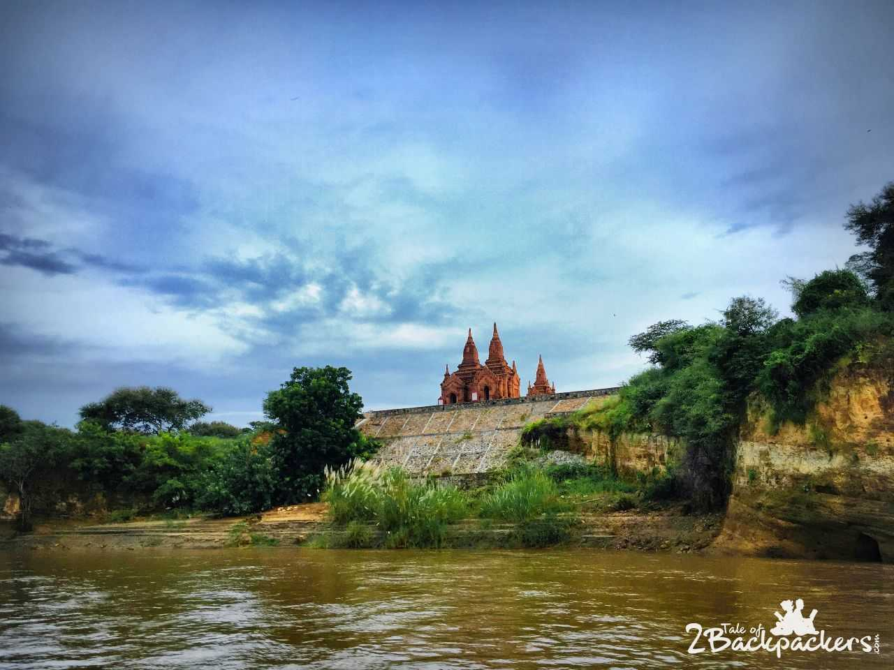 View from river cruise, Bagan, Myanmar