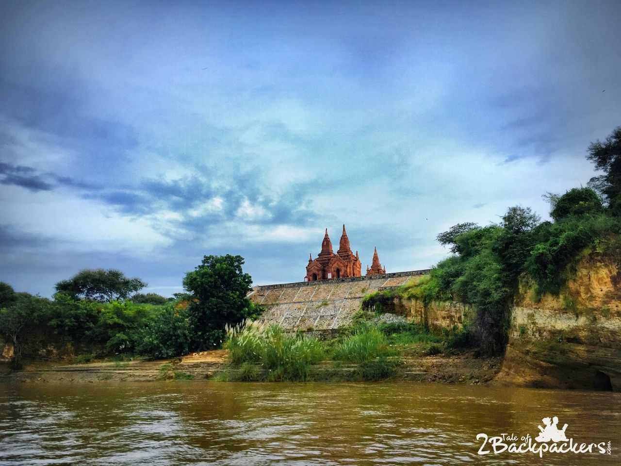 View from river cruise, Bagan, Myanmar