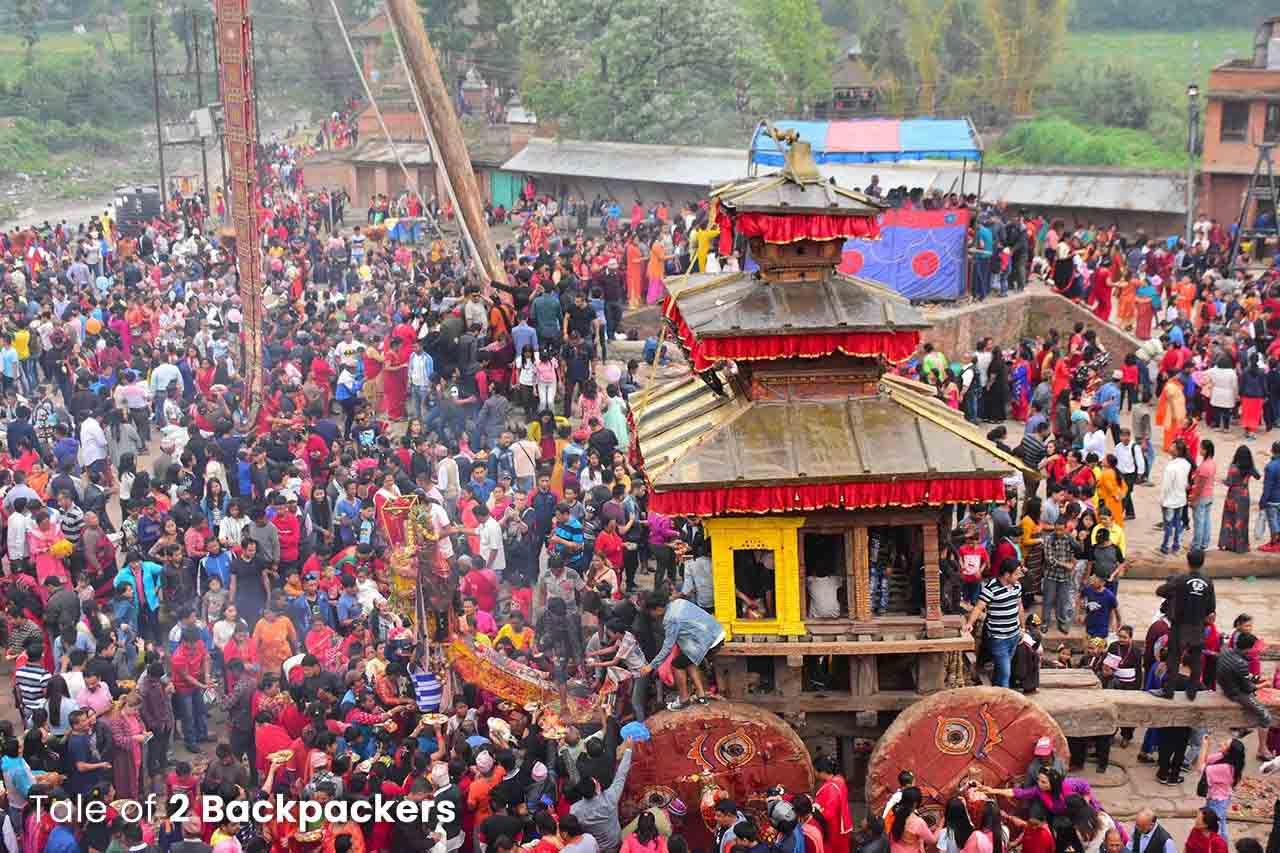 Bisket Jatra at Bhaktapur Nepal
