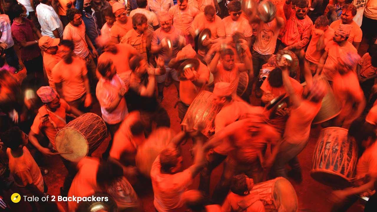 Dancing at Sindoor Jatra