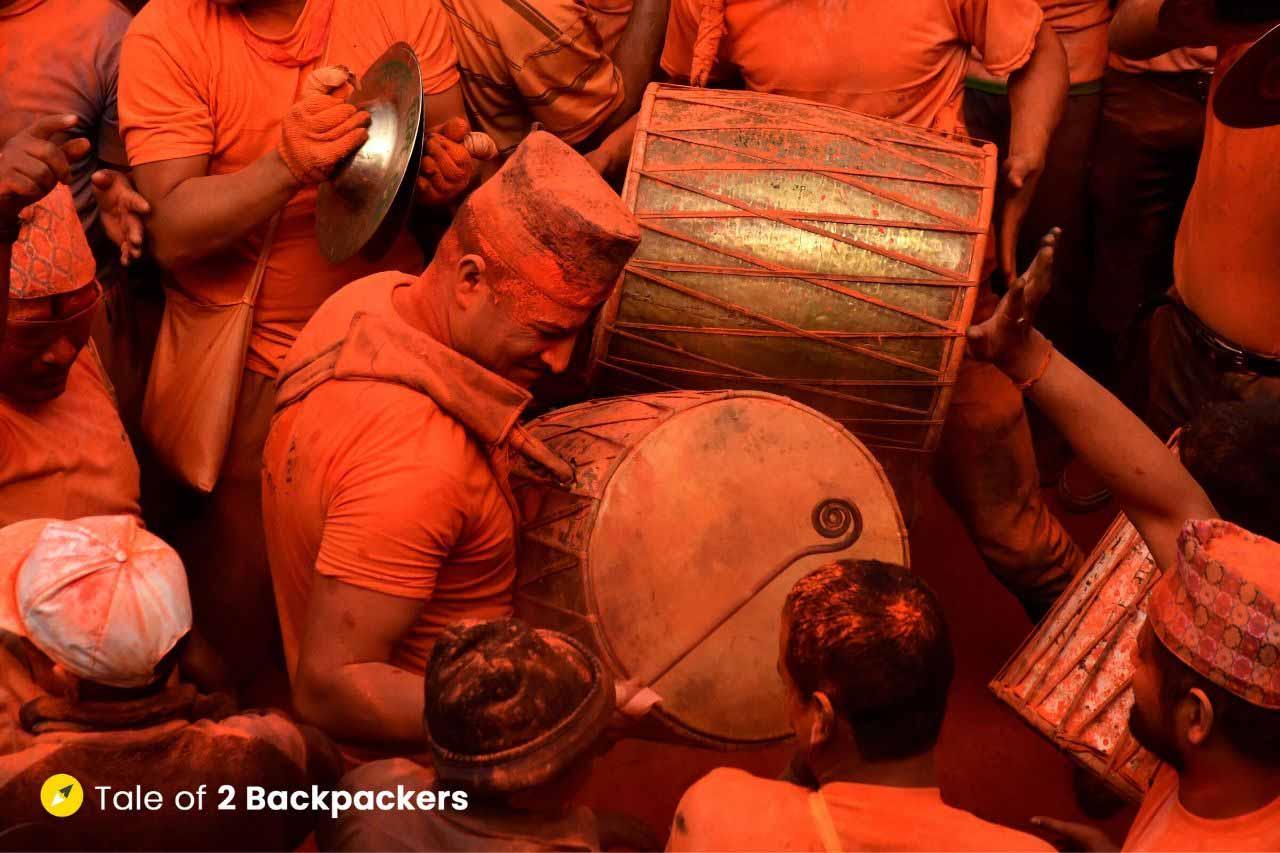 Drum Players at Sindur Jatra