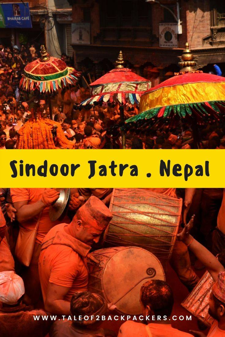 Sindoor Jatra is Nepal is one of the most visually stunning festivals celebrated in Nepal. #nepal #festivals